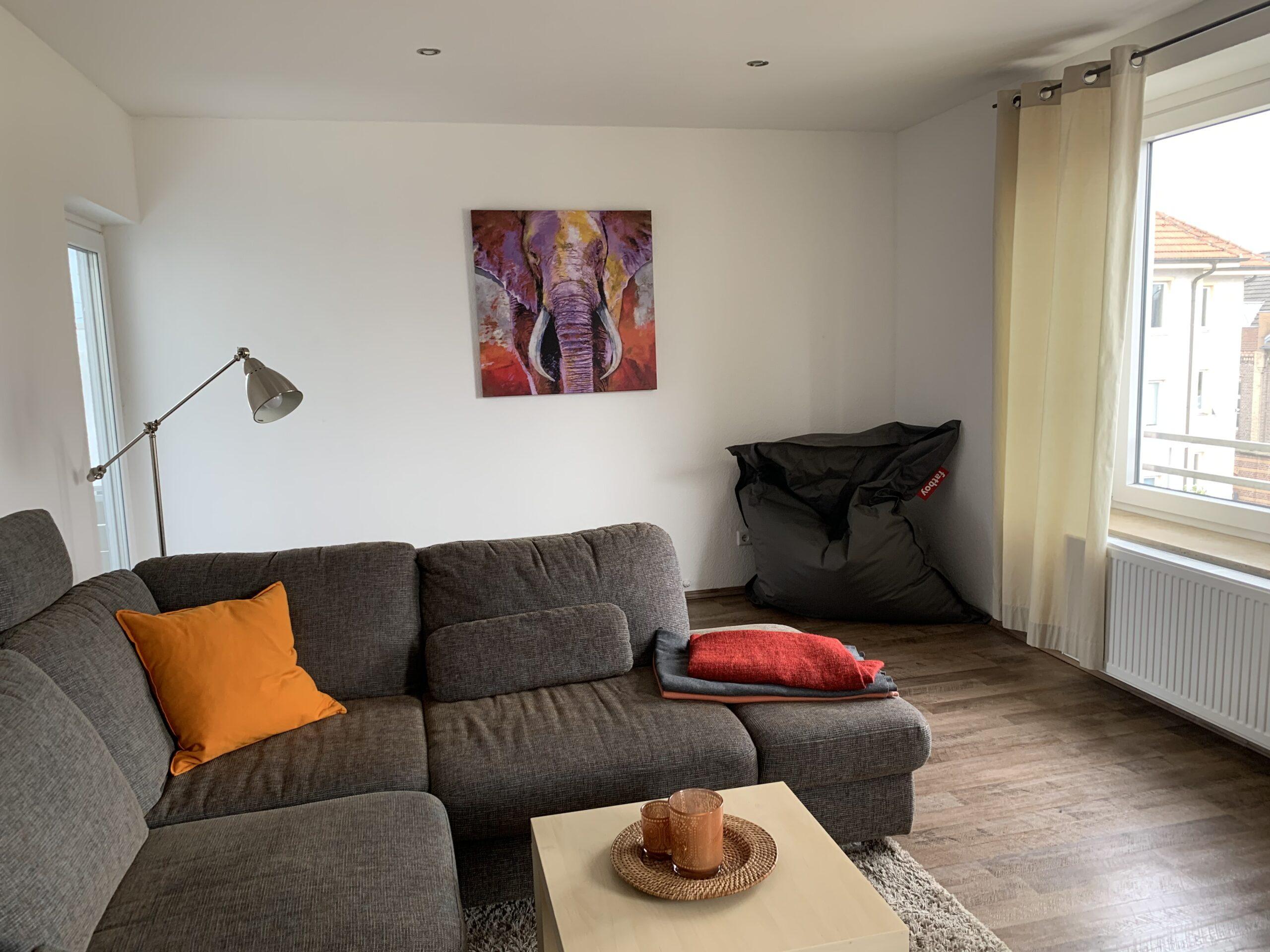 Wohnzimmer & Sitzsack Ferienwohnung 3